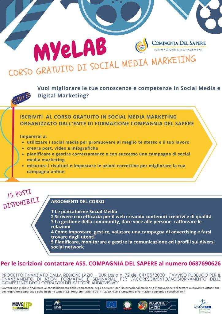 CORSO GRATUITO DI SOCIAL MEDIA MARKETING – MYeLAB